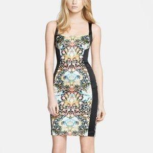 Just Cavalli Square Neck Sateen Printed Dress 44/8